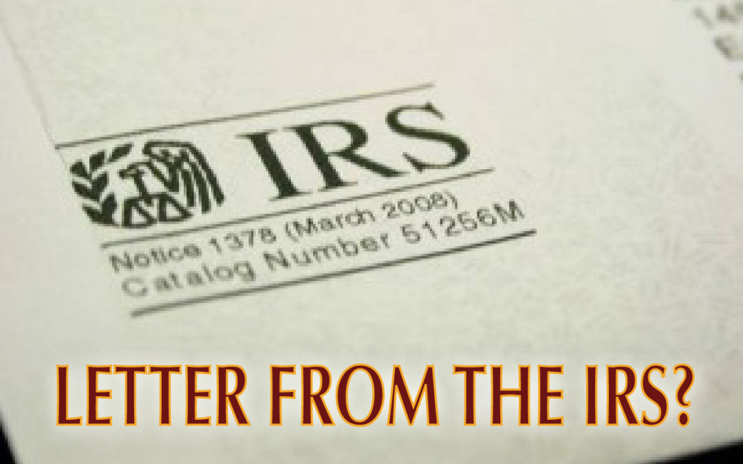Letters from the IRS